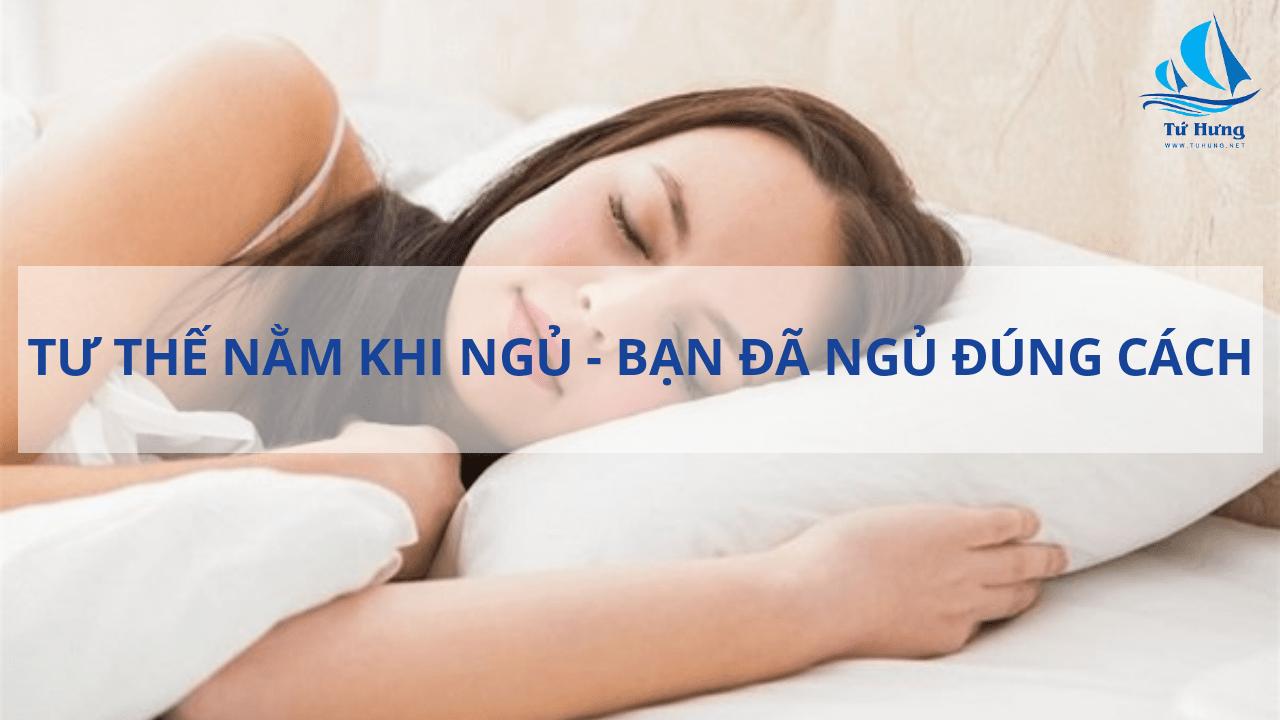 tư thế nằm khi ngủ